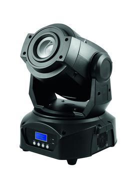 EUROLITE LED TMH-60 Moving Head Spot, 1x 60W LED, 14°, 3-facet prisma, DMX, stand alone, Master/Slave tai musiikkiohjaus. Erittäin pieni. Laitteen korkeus on vain 31,5cm, joten saat sen sijoitettua todella mataliin paikkoihin. 1 kpl 60W LED.
