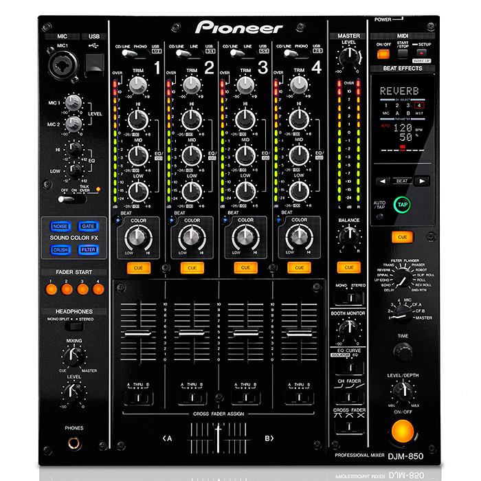 PIONEER DJM-850K DJ-mikseri, huippuluoka, discoland.fi