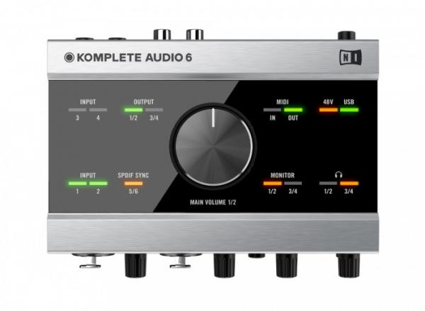 NATIVE INSTRUMENTS Audio Komplete 6, audio interface, USB- äänikortti 192kHz, 24 bittinen äänenlaatu!