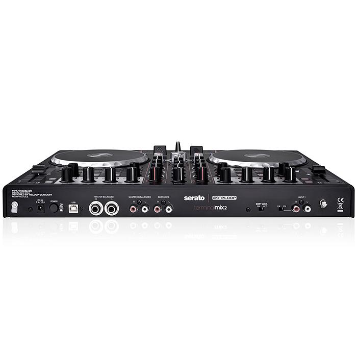 RELOOP DJ kontrolleri Terminal Mix 2 Serato. Kontrolleri on varustettu interfacella Serato DJ INTRO softalla. Loistava metallirunkonen kontolleri isoilla JOG wheel pyörillä. Laadukas Serato intro softa, jonka voi päivittää serato DJ softaan (full) seraton sivuilla (99€). Mitat 440 x 44 x 320 mm sekä paino 3,65kg.