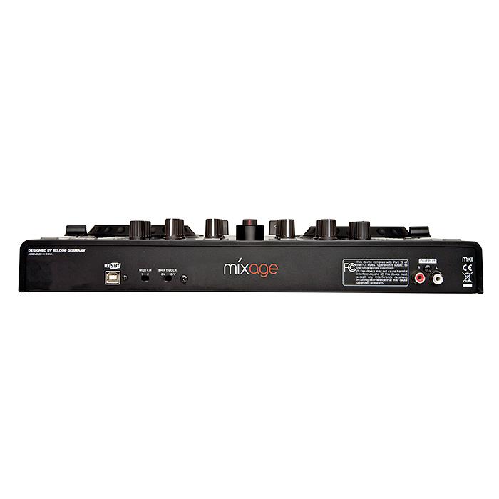 RELOOP DJ-kontrolleri MIXAGE BUNDLE IE. DJ-kontrolleri on varustettu interfacella TRAKTOR LE softalla sekä GREEN RHP-5 kuulokkeet. Laadukas traktor kontrolleri, jolla sinun helppo miksata ja synkata ääniraitoja. Enää et tarvitse kahta CD tai vinyyli soitinta miksaukseen!Reloopin kontrollerin avulla voit miksata kahta dekkiä yhdellä laitteella. Kompakti je helposti mukana kulkeva kontrolleri on helppo yhdistää tietokoneeseesi. Useilla näppäimillä ja ohjaimilla varustetun mikserin käyttömukavuus on parempi kuin näppäimistön ja hiiren käyttäminen. Tässä tuotteessa Interface, esikuuntelu sekä mikkiliitäntä.Kaikenkaikkiaan 54 MIDI kontrollia.