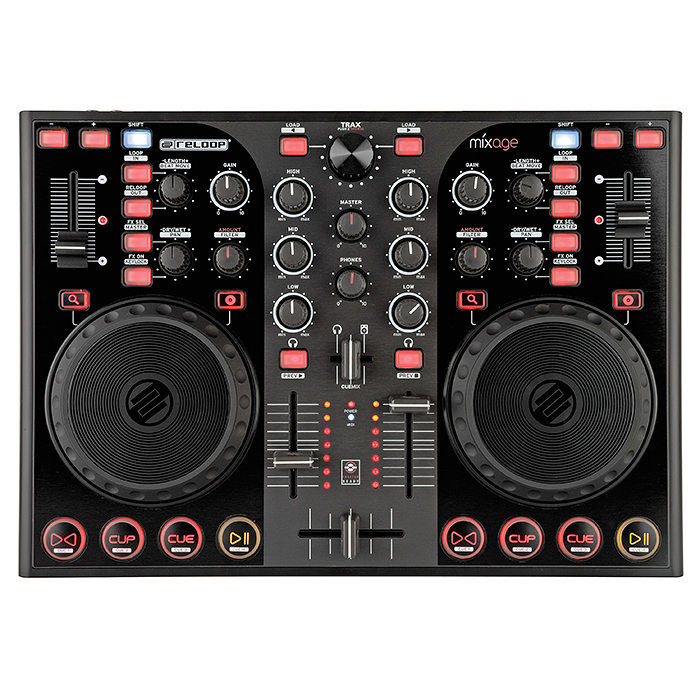 RELOOP MIXAGE IE DJ-kontrolleri varustet, discoland.fi