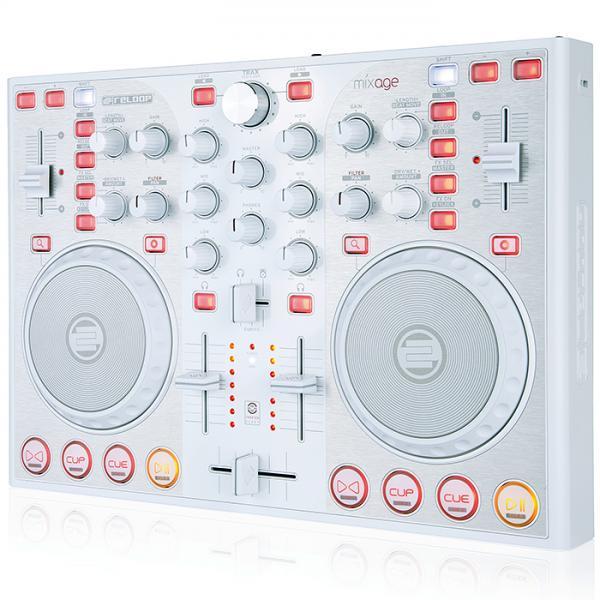 RELOOP Poisto!MIXAGE CE Valkoinen DJ kon, discoland.fi