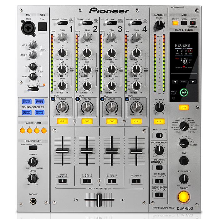 PIONEER DJM-850S DJ mikseri hopea. DJM-8, discoland.fi
