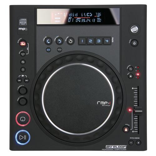 RELOOP RMP-1 MK2 B Musta DJ CD soitin huippu DJ tuote. Edestä ladattava MP3 CD soitin nopeuden säädöllä 4/8/16/100%. Kosketusherkkä JOG wheel, automaattinen BPM laskin, erilliset CUE pisteet, ID3 tag tuki, 4kpl 5 sekunnin sample bankit.  kappale sekä kansiohaku, ultra pienet nopeudensäätövälit 0,05% (8%). Nopeudensäätä 0-100%. Auto cue, loop sekä reloop, frame haku, 10 sekunnin antishok, , relay jatkuvasoitto, digitaalinen ulostulo sekä erillinen kuuloke ulostulo äänenvoimakkuuden säädöllä. Mitat 320 x 112.6 x 340 mm sekä paino 4.0kg.