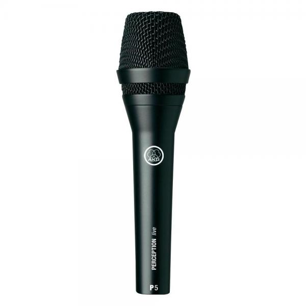 AKG Perception Live P5S Dynaaminen ammattitason mikrofoni laulu- ja taustalaulukäyttöön lavalla, varustettu on/off kytkimellä. characteristics Supercardioid, Connector XLR, Frequency 40 - 20 000 Hz, Impedance 2000 Ω, On/off switch, Dimensions (Ø x L) 51 mm x 190 mm, Weight 200 g.