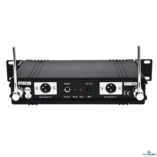 RELOOP RWM-2HH langaton mikrofoni järjestelmä, 2 kpl mic+ vastaanotin 863.1 & 863.7 MHz!