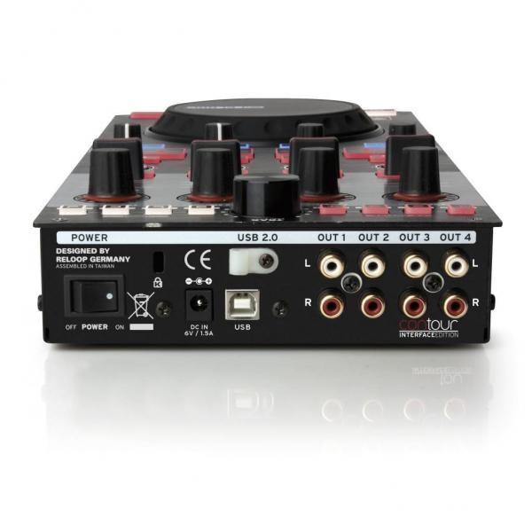 RELOOP Contour IE edition kontrolleri varustettu interfacella TRAKTOR LE softalla.