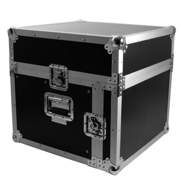 "ACCU-CASE Professional 19"" L-Rack Case with laptopboard - perfect for the digital DJ Kuljetuslaatikko cd soittimille, mikserille ja läppärille!"