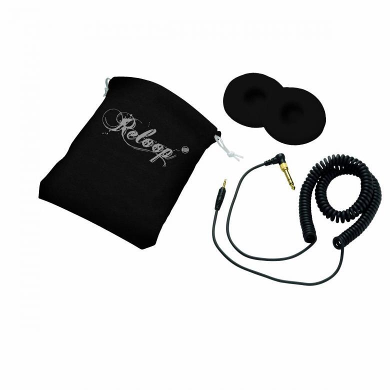 RELOOP RHP-10 SOLID CHROME Kuuloke Huippu DJ-kuulokkeet! Euroopan suurimman DJ-laitevalmistajan ammattilaiskuulokkeet!!! Loistavalla Reloopin laadulla ja tukevalla rakenteella varustetut DJ-kuulokkeet käyttöön kuin käyttöön. Reloop ylpeänä esittelee RHP-10 kuuloke sarjan. Kompakti sekä kevyt, mutta siitä huolimatta jykevä rakenne, laadukas soundi ja myös hinnaltaan sopivat. Pyörivät kuulokkeet sekä taitettava muotoilu helpottavat kuljetusta. Tässä kuuloke mallissa on laadukkaat elementit, jotka tuottavat upean bassotoiston sekä heleät diskantit. Mukana laadukas pussi, varapadit, 6,3 adapteri sekä kierrejohto.