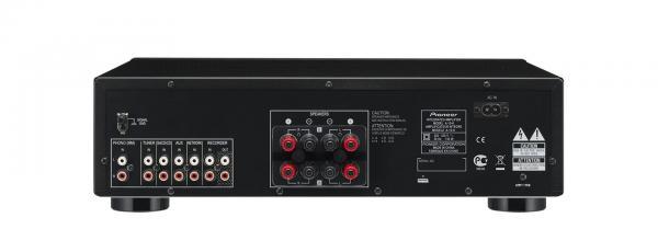 PIONEER A-10K Vahvistin 2x50W. Musta, Phono, line. Käytännöllisyyttä, taidokkuutta, suorituskykyä. A-10-vahvistimet, joissa on Direct Energy -ominaisuus ja symmetrinen rakenne, tarjoavat luokkansa parhaan huipputasoisen äänen teknisen eleganssin sisällä.