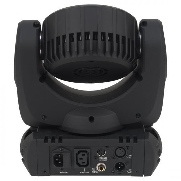 ADJ Inno Color Beam LED DMX moving Head 36x 3W CREE LEDeillä RGBW. 13,5 asteen aukeamiskulma. Mitat 304 x 267 x 167mm ja paino 5,6kg.
