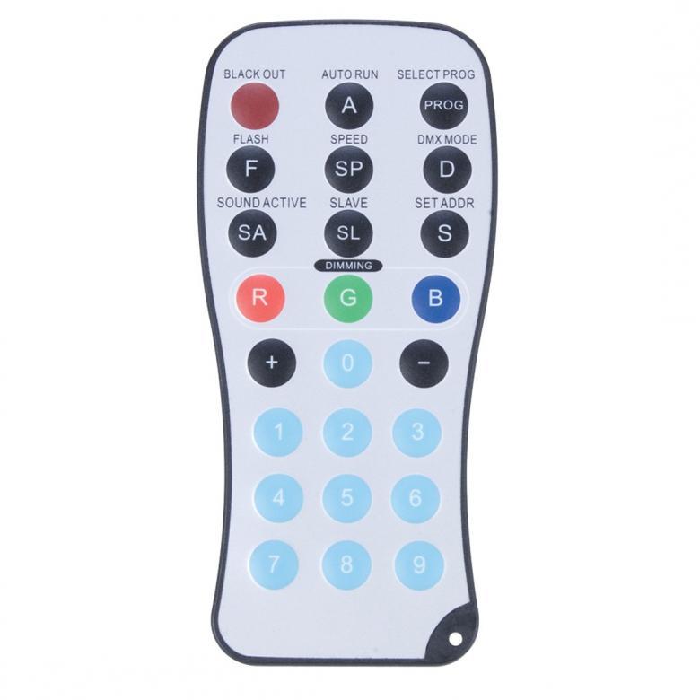 POISTO ADJ PRO64B PAR64 Valoheitin LED RC DMX 24x 1W. Par kannu kaukoohjaimella, Lattiamalli tehokas LED PAR heitin 40°. poisto! 24X 1W LEDit takaavat häikäisevän valotehon! Voidaan ohjata yleisimmillä DMX ohjaimilla! Vastaavuus noin 300W perinteiselle spotille sininen ja vihreä! Mitat 249x249x380mm sekä paino 3,5kg. POISTO!