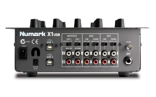 NUMARK X1USB Professional Scratch Mixer, 2–Kanavainen DJ-mikseri.