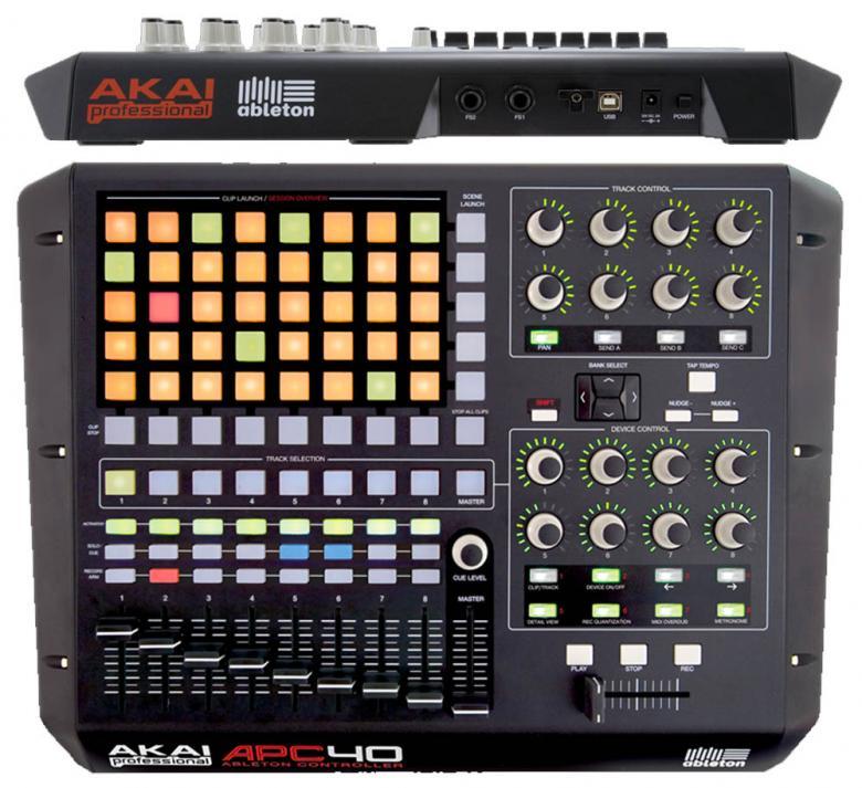 AKAI APC40 Ableton Live-ohjain, kontrolleri