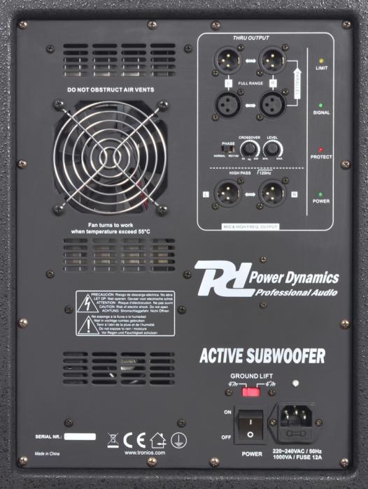 POWERDYNAMICS PD-312SA aktiivisubwooferi 12