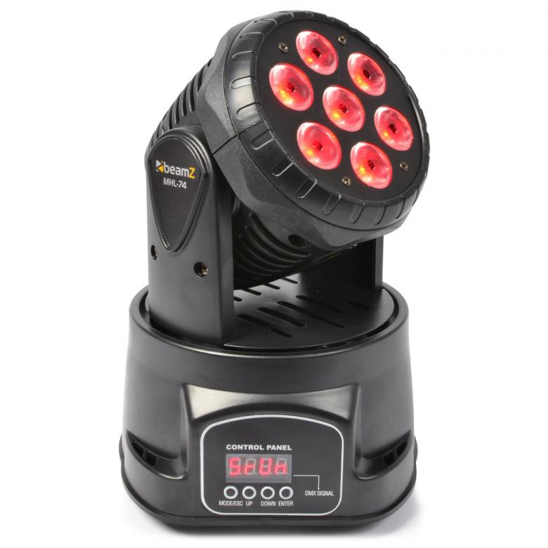 BEAMZ MHL-74 Mini Moving Head 7x10W RGBW, discoland.fi
