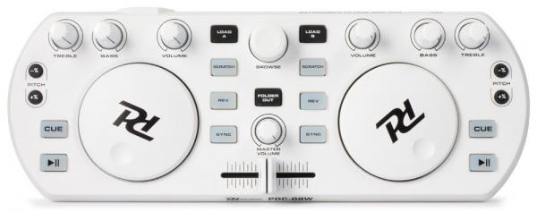 POISTO Powerdynamics PDC-08W Valkoinen DJ kontrolleri, Mixvibes softalla. Midi Controller White, incl. MixVibes. Ei sisällä interfacea!Todella näppärä pikku kontrolleri musiikin miksaamiseen. Mukana Mixvibes ohjelmisto. Voit miksata kappaleita helposti myös ilman kuulokkeita SYNC toiminnetta käyttämällä. Tämän laitteen otat helposti mukaan bileisiin.. Kytket vain kiinni tietokoneeseen ja voit soittaa musiikkia DJ tyyliin. Toimii PC ja MAC.