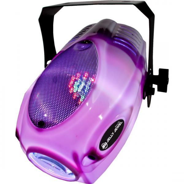 ADJ Jelly Jewel LED -valoefekti, todella hauska väriä vaihtava LED flower. Todella maukkaan häikäisevä valo bileisiin tai discoon. Mitat 260x230x142mm sekä paino 2.0kg. Todella hauska 2- yhdessä valoefekti!