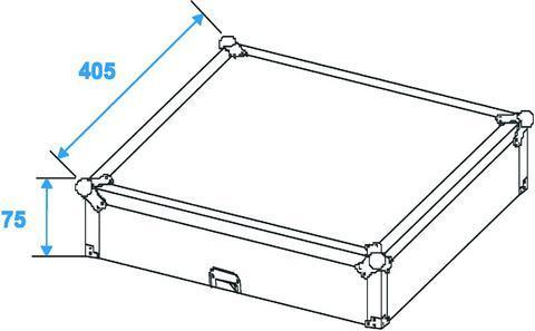 ROADINGER Kuljetuslaatikko mikserille  DJM-800, DJM-700, DJM-850, DJM-900, DJM-750, DJM-600 DJM-500 Kuljetuslaatikko case Pioneer- Reloop- Numark miksereille. Huom. Sopii DJM-900, testattu. Ulkomitat 515 x 400 x 215 mm, sisämitat 385x 320x 110mm sekä paino 7,4kg.