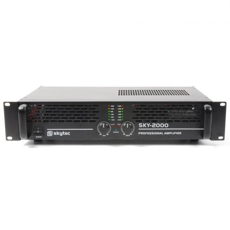 VONYX VXA-2000 II päätevahvistin 2x 1000W SMT 4?, Bridge 2000W Tehokas päätevahvistin, eli tehoa kohtuu hintaan! Paino vain 7.5Kg! 2x 500W RMS 4ohm!