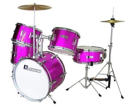 DIMAVERY Drum-Set <b>PINK</b> Kids JDS-3, discoland.fi