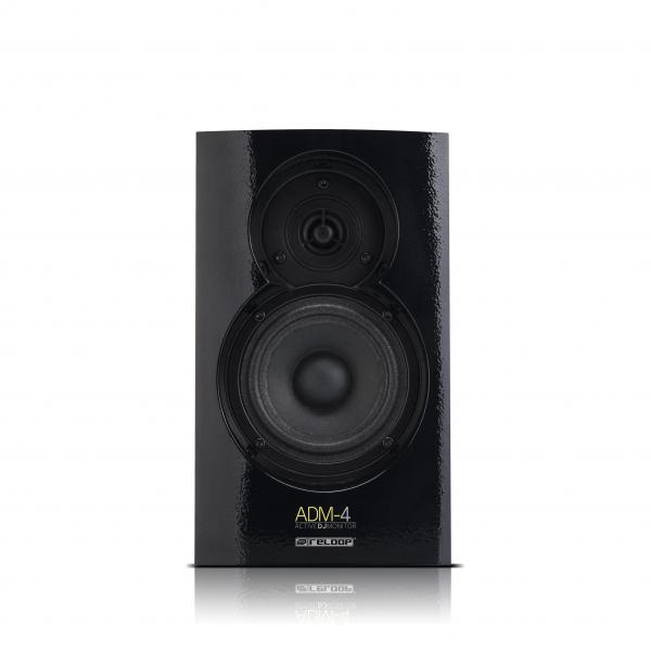 RELOOP Reloop ADM-4 32W aktiivimonitorikaiutin. 2kpl (pari). Tämä näppärä kaiutin soveltuu usean tyypiseen musiikin kuunteluun, television lisäkaiuttimeksi tai vaikka DJ koti miksaukseen! 196x 260x 153mm 5,0kg.