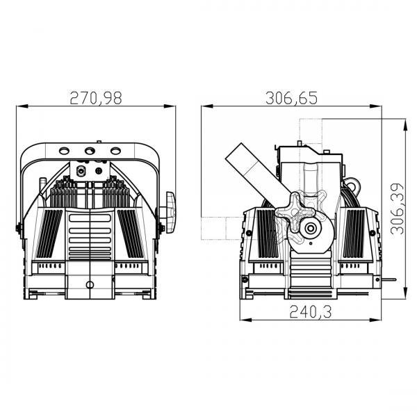 ELATION OPTI PAR II CDM 150, erittäin suosittu messu valaisin, toimii 150W CDM kaasupurkauslampulla! tämä on ylivoimainen suosikki messu sekä tapahtuma tuotannoissa.