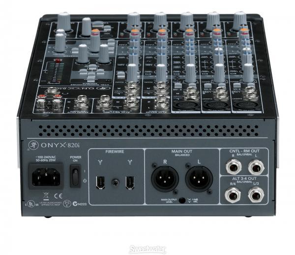 MACKIE Onyx 820i Mikseri ja äänikortti samassa paketissa! 8-kanavainen äänitysmikseri, jossa 3 Onyx-mikkietusta ja Firewire-interface. Ammattitason äänitysympäristö ei synny tyhjästä. Tekniseltä puolelta tarvitaan ainakin laadukkaat analogitulot, hyvä hallittavuus, korkea näytteenottotaso ja kyky toimia tarvittavien ohjelmien kanssa. Eli Onyx-i. Kaikille Onyx-i miksereille yhteisiä ominaisuuksia.•Laadukas äänitysmikseri 24-bit/96kHz FireWirellä•Samat AD/DA-muuntimet kuin Digidesgnin 192 I/O Audio Interfacessa •ProTools 9 -yhteensopivuus  •Mackien takuu, toimii kaikkien työasemaohjelmistojen kanssa, mm: ◦Pro Tools® 9 ◦Logic ®◦SONARTM◦Cubase® ◦Ableton® Live◦Final Cut Pro®.