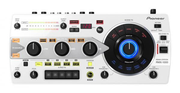 PIONEER RMX-1000W Remix Station. Valkoinen, efektori tälle vuosituhannelle. Huippuluokan digitaalinen artistikontrolleri FX.