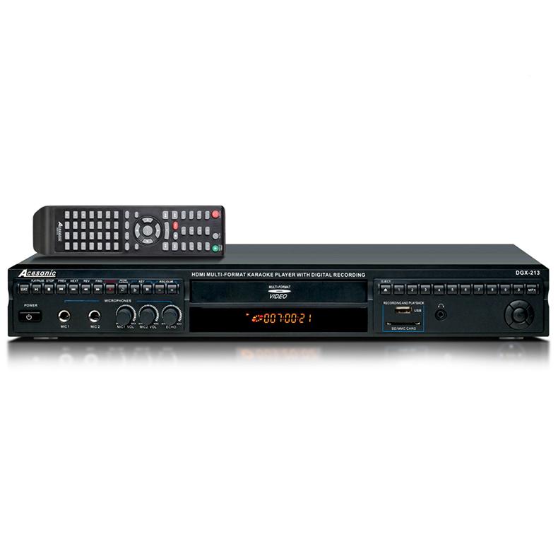 ACESONIC DGX-213 HDMI-karaokesoitin USB-, discoland.fi