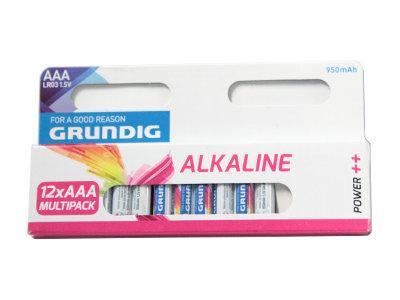 GRUNDIG Alkaali Paristo 12kpl Plus Batte, discoland.fi