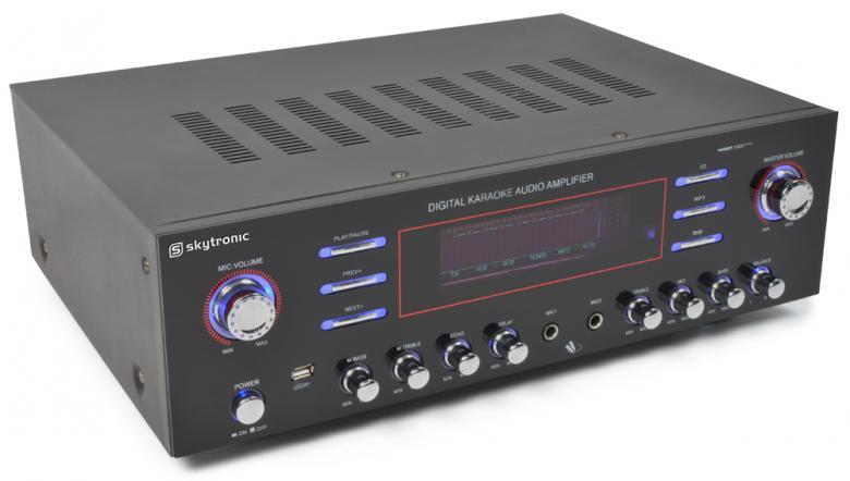 SKYTRONIC AV-340 Karaoke-Surround vahvis, discoland.fi
