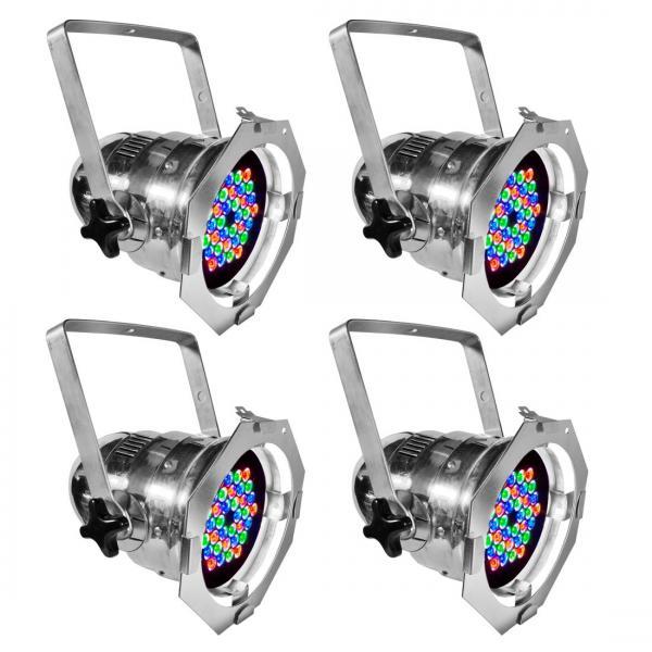 ADJ 4Stage Pak alu DMX LED Par 64, 36x 1, discoland.fi