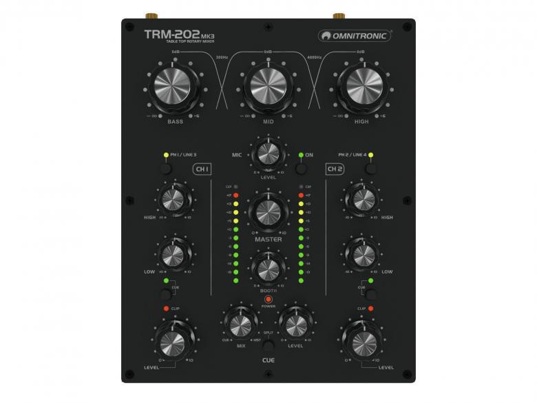 OMNITRONIC TRM-202MK2 kaksikanavainen DJ, discoland.fi