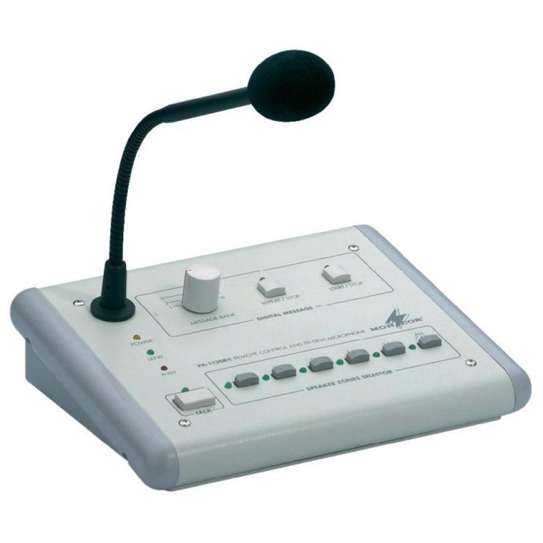 MONACOR PA-1120rc mikrofoni, aluevalitsi, discoland.fi