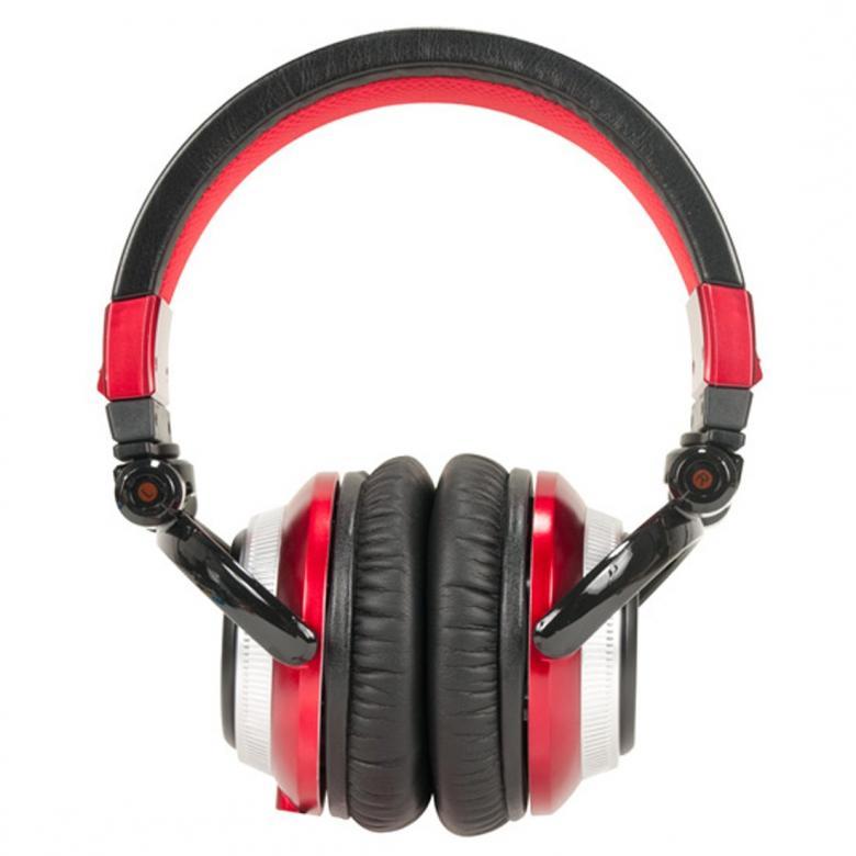 POISTO ADJ ETR1000R Punainen DJ kuuloke DMC DJ Etronic (4x DMC mestari) suunittelemat suljetut DJ kuulokeet. Potkaisee tyylillä!  DJ äänen toistavat ETR1000 PRO kuulokkeet on suunnitellut äänentoiston ja DJ soittamisen moninkertainen mestari DJ ETRONIK. DMC mestari x4! mahtava bassotoisto tiskijukille tai tanssimusiikista pitäville. Erittäin paksut tyynyt (nahkaa) koteloivat korvia, kun taas leveä säädettävä sanka takaa huippu istuvuuden. Oikeasti, hanki nämä itsellesi heti!  Potkua piisaa ja soundi kohdallaan! Kuulokkeet ovat kevyet ja sulkevat sinut täysin ulos ympäristöstä!