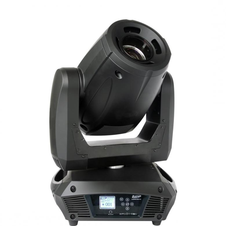 ELATION Platinum Spot LED II Moving head, Erittäin tehokas LED moving head 135W valkoisella valolähteellä! 135W, 10358 Lux @ 2,5m, 16° fix beam angle!