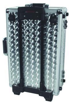 OMNITRONIC Kuljetuslaatikko alu, pyörillä ja vetokahvalla 120 CD-levylle