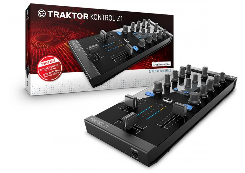 NATIVEINSTRUMENTS Traktor Kontrol Z1 DJ-kontrolleri varustettu interfacella! huippuluokan Kontrolleri dj käyttöön. Toimii Traktor pro softalla tai Traktor DJ FOR iphone or pad! lataa softa APP storesta  tai käytä olemassa olevaa softaasi.