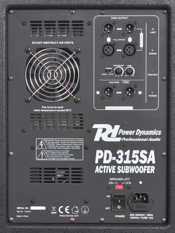 POWERDYNAMICS PD-315SA aktiivisubwooferi 15
