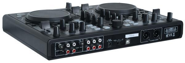 POWERDYNAMICS PDC-07 Midi dj kontroller virtualdj softa,Varustettu interfacella! Todella näppärä pikku kontrolleri musiikin miksaamiseen. Mukana Mixvibes ohjelmisto. Voit miksata kappaleita helposti myös ilman kuulokkeita SYNC toiminnetta käyttämällä. Tämän laitteen otat helposti mukaan bileisiin.. Kytket vain kiinni tietokoneeseen ja voit soittaa musiikkia DJ tyyliin. Toimii PC ja MAC!