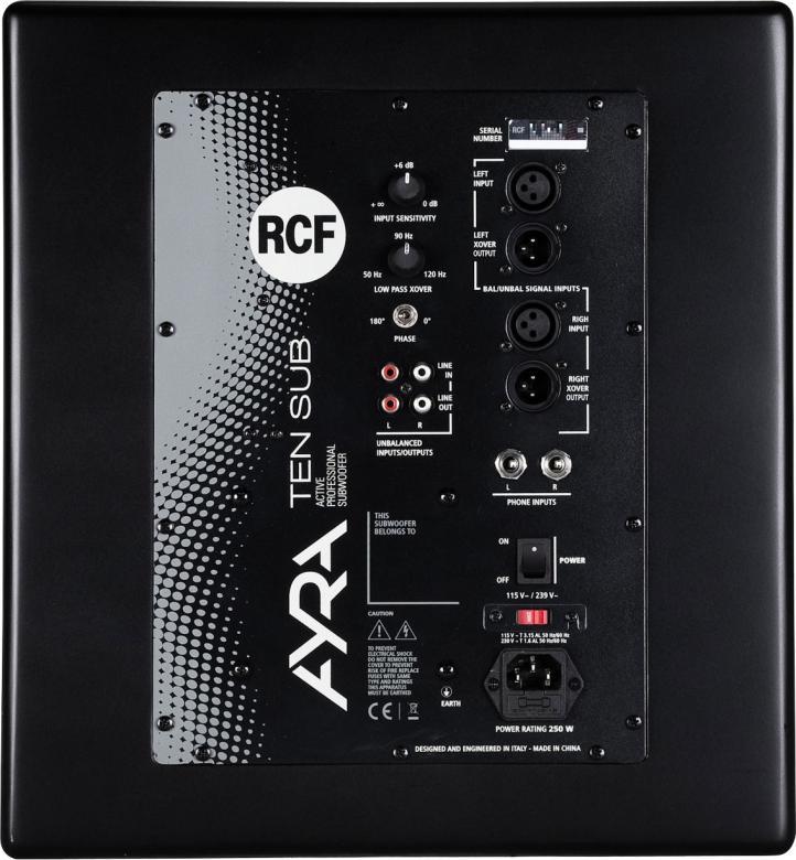 RCF AYRA Ten musta aktiivisubwoofer 10