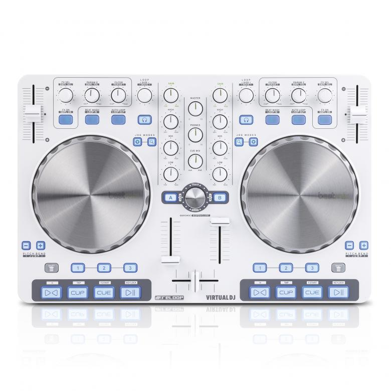 RELOOP BeatMix Ltd DJ-Kontrolleri. valko, discoland.fi