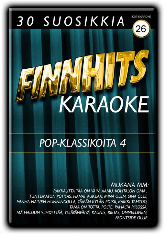 FINNHITS Vol 26 DVD POP KLASSIKOITA 4 ka, discoland.fi