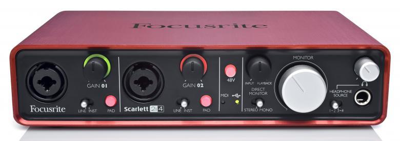 FOCUSRITE Scarlett 2i4 Interface Focusri, discoland.fi