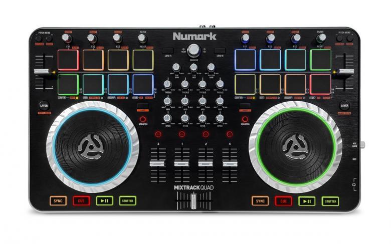 NUMARK Mixtrack Quad DJ-kontrolleri 4-ka, discoland.fi
