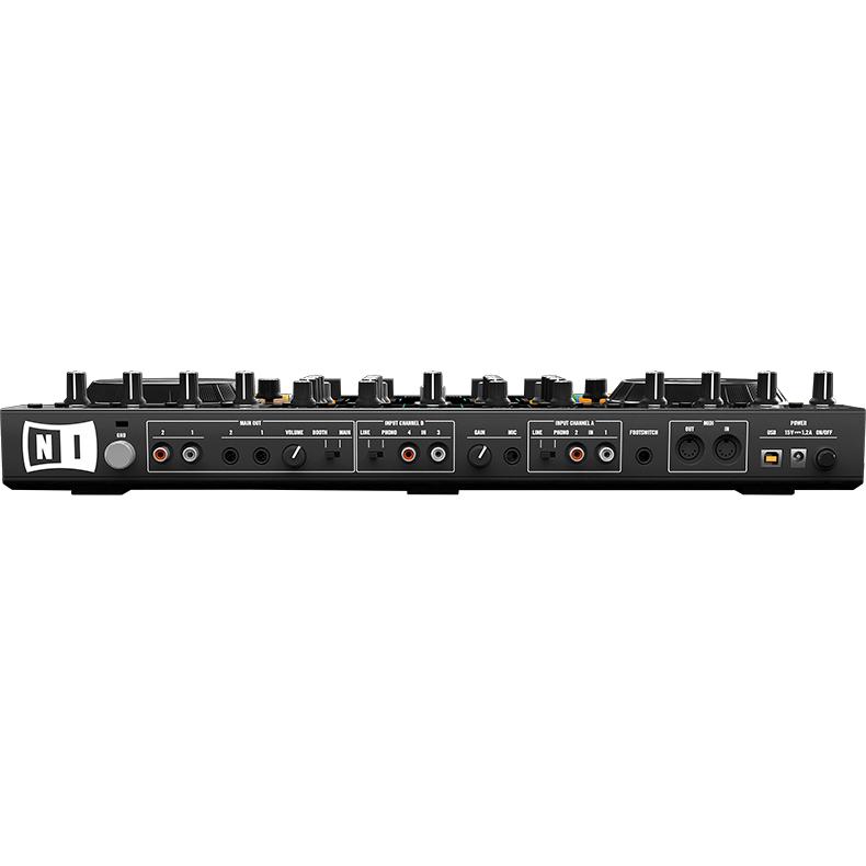 NATIVE INSTRUMENTS Traktor Kontrol S4 Mk2 DJ kontrolleri. Kompakti ja helposti mukana kulkeva Traktor on helppo yhdistää tietokoneeseesi. Useilla näppäimillä ja  ohjaimilla varustetun mikserin käyttömukavuus on parempi kuin näppäimistön ja hiiren käyttäminen. DJ Audiointerface and controller!