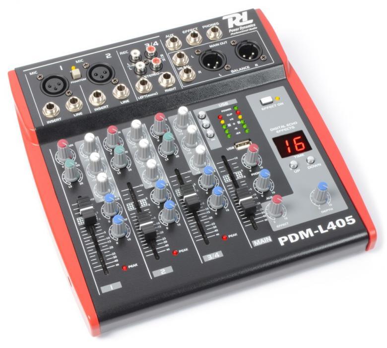 POWERDYNAMICS PDM-L405 4-kanavainen miks, discoland.fi
