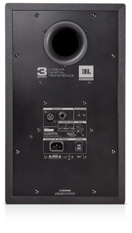 JBL LSR308 Aktiivi lähikenttämonitori 1kpl, Huima 112dB äänenpaine HUOM! 1kpl! Huikea äänenpaine kristallinkirkas soundi. 2 vahvistinta 2x 56W bassolle sekä yläpäälle. Sisäänmeno XLR balansoitu tai TRS Plugi balansoitu. Tämä soveltuu kotistudioon, DJ käyttöön tai musiikin kuunteluun! Uusi Control LSR305 lähikenttämonitori on kompakti kooltaan ja monipuolinen liitännöiltään. Puhtaasti ja erottelevasti. Maailman suurimpana kaiutinvalmistajana JBL on taas luonut uuden referenssin. Ulkomitat 419 mm x 254 mm x 308 mm Paino 8.6kg /kpl.